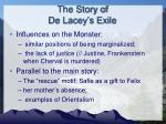 the story of de lacey s exile