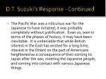 d t suzuki s response continued10