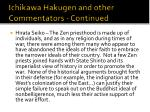 ichikawa hakugen and other commentators continued16