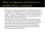 other zen masters and scholars in the war effort continued