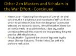 other zen masters and scholars in the war effort continued4