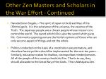 other zen masters and scholars in the war effort continued5