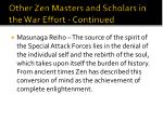 other zen masters and scholars in the war effort continued6