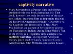 captivity narrative