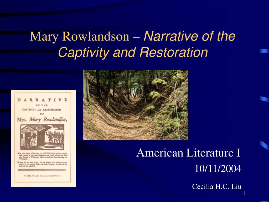 mary rowlandson narrative of the captivity and restoration l.