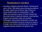 rowlandson s narrative