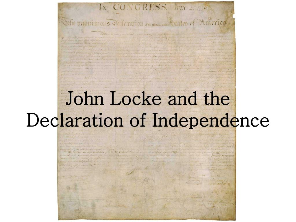 john locke and the declaration of independence l.