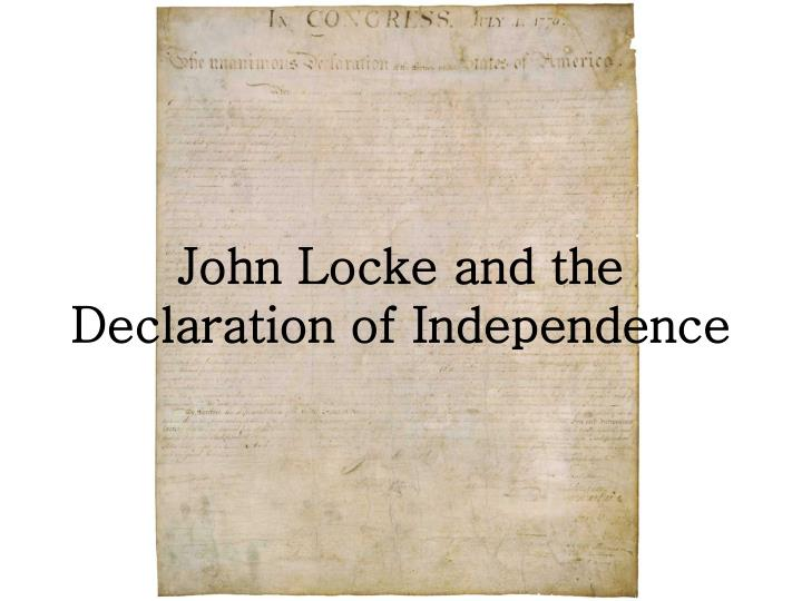 john locke and the declaration of independence n.