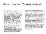 john locke and thomas jefferson