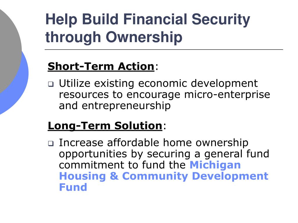 Help Build Financial Security through Ownership