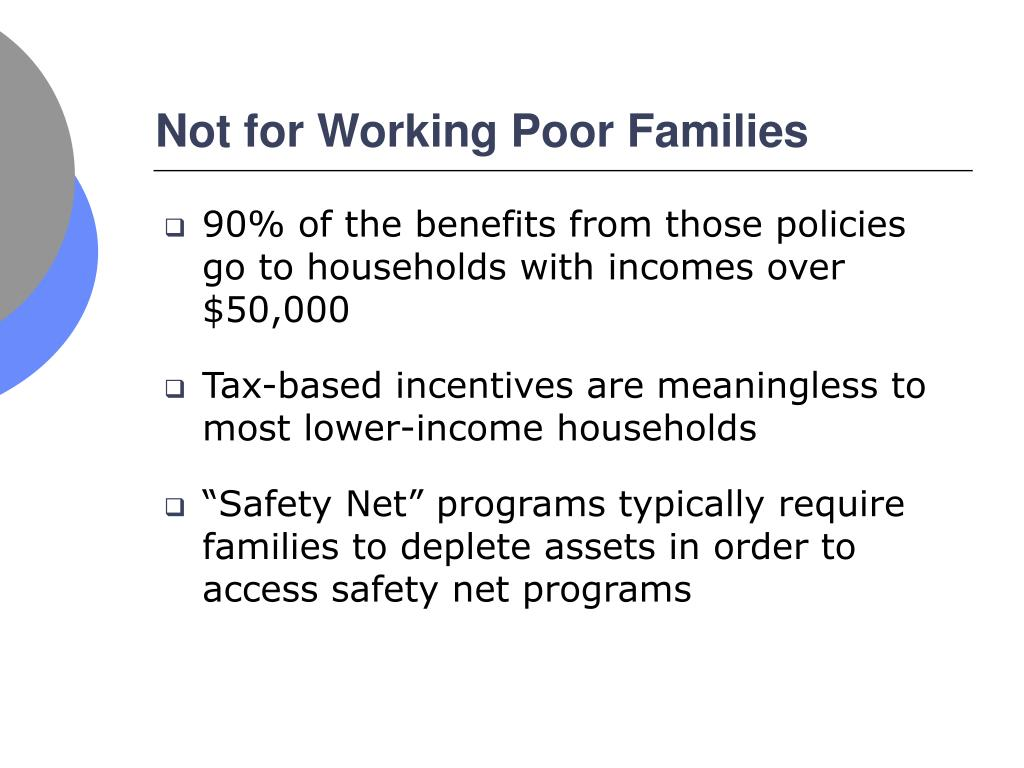 Not for Working Poor Families