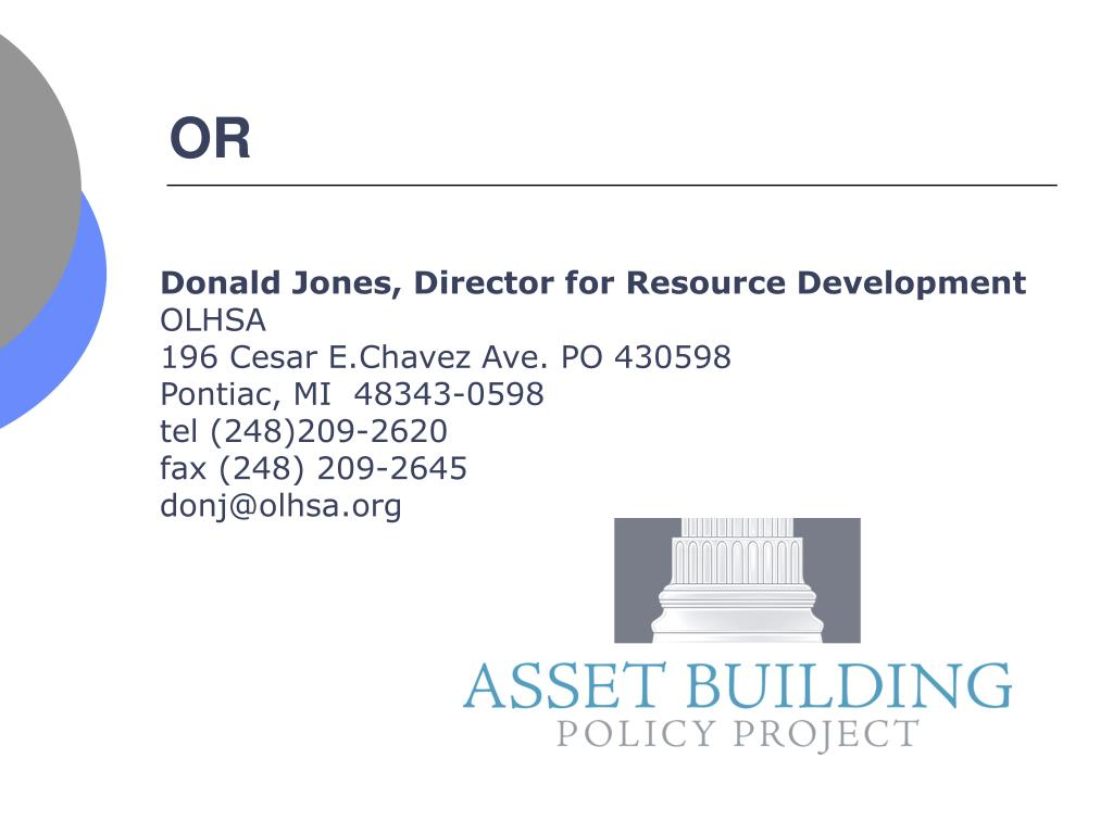 Donald Jones, Director for Resource Development