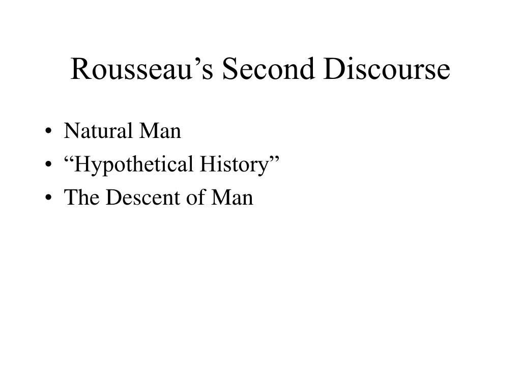 rousseau s second discourse l.