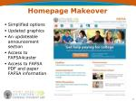 homepage makeover