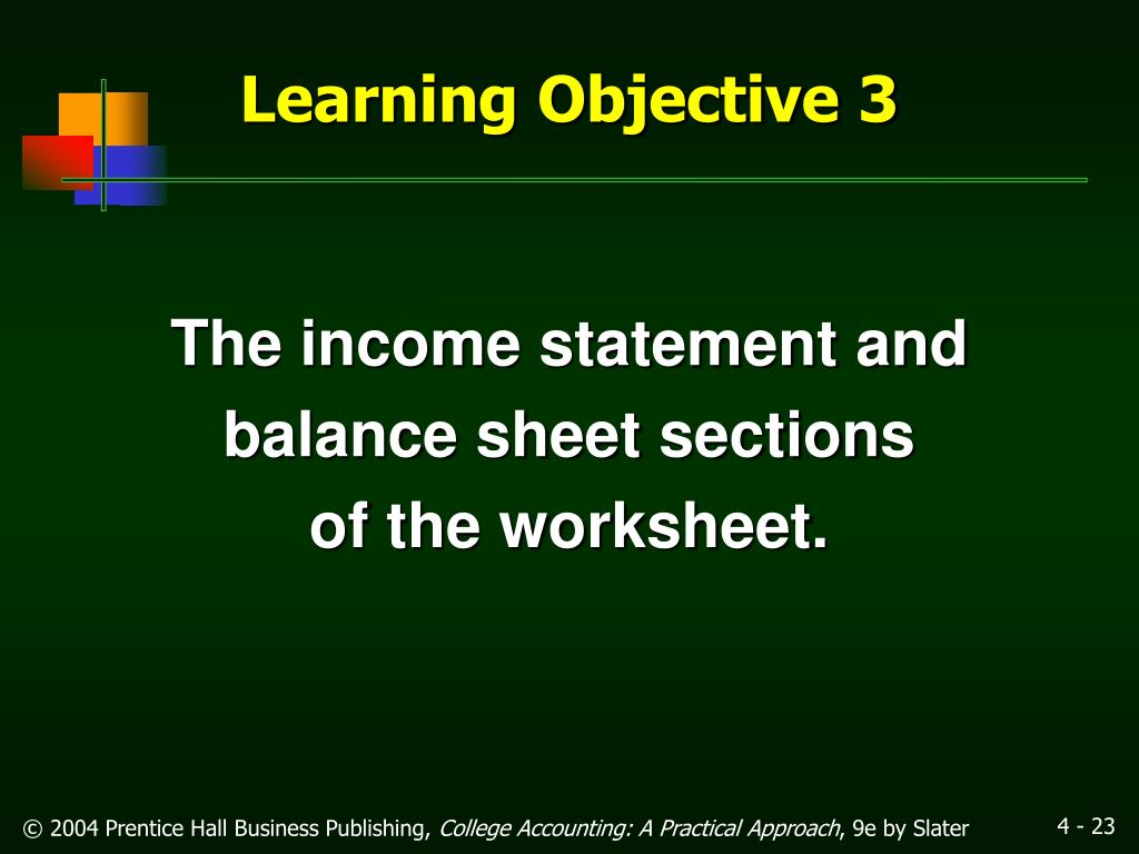 The income statement and