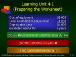 learning unit 4 1 preparing the worksheet13