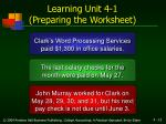 learning unit 4 1 preparing the worksheet15