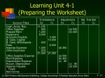 learning unit 4 1 preparing the worksheet17