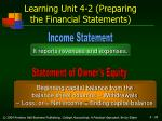 learning unit 4 2 preparing the financial statements