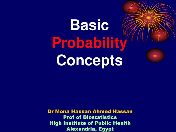 basic probability concepts n.