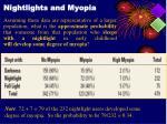 nightlights and myopia
