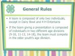 general rules1