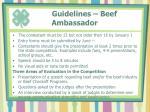 guidelines beef ambassador