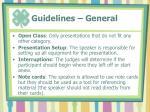 guidelines general