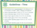 guidelines time