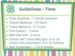 guidelines time1