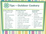 tips outdoor cookery