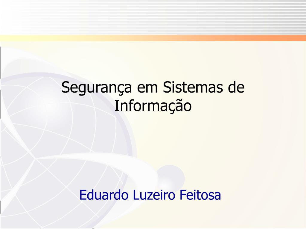 seguran a em sistemas de informa o l.