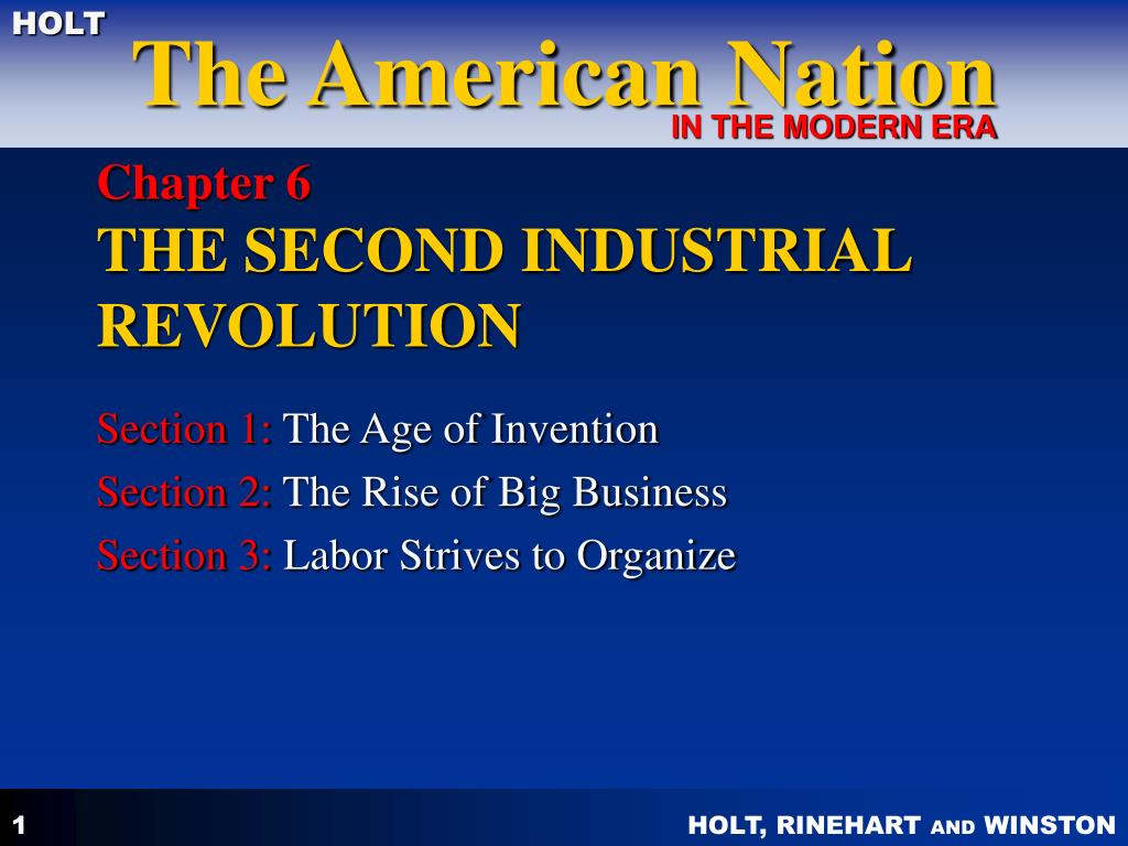 chapter 6 the second industrial revolution l.