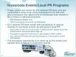 grassroots events local pr programs
