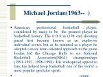 michael jordan 1963