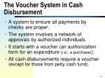 the voucher system in cash disbursement