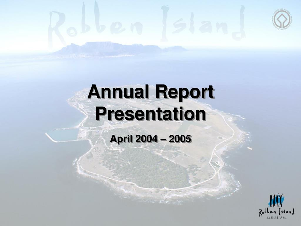 annual report presentation april 2004 2005 l.