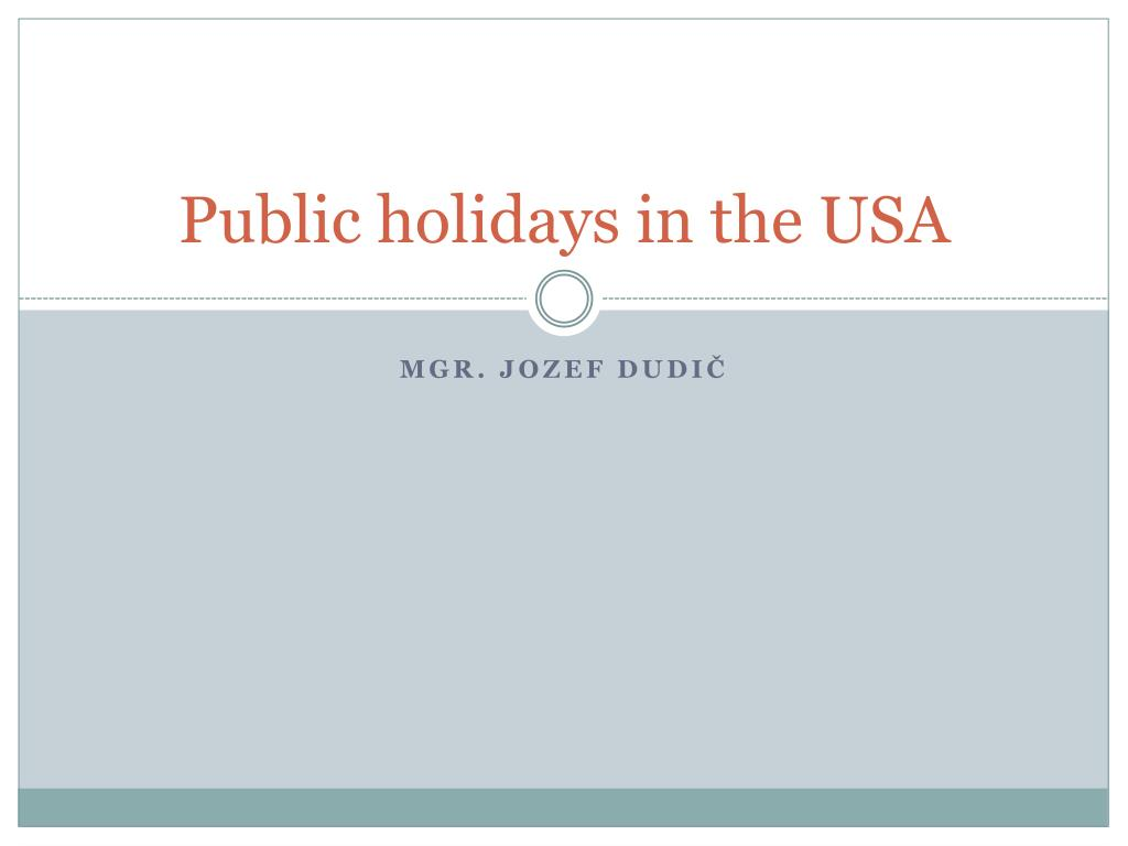 public holidays in the usa l.