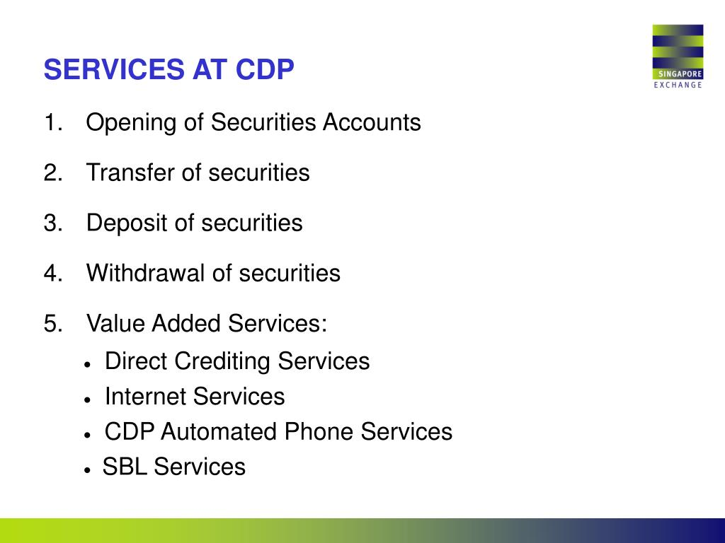 SERVICES AT CDP