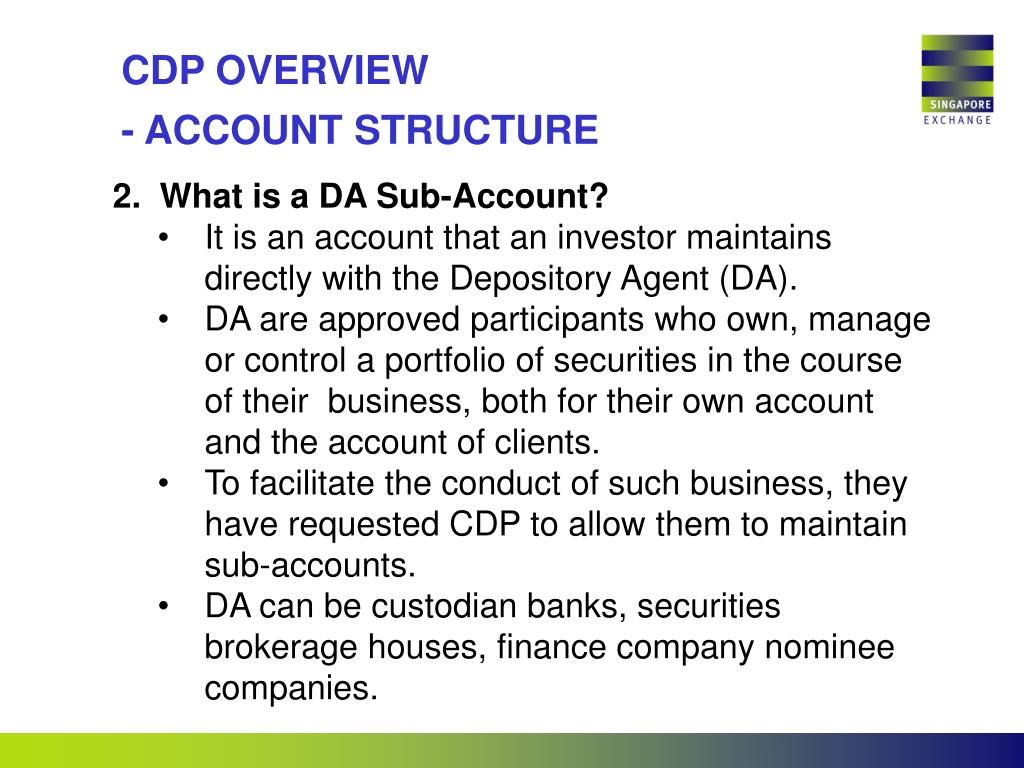 CDP OVERVIEW