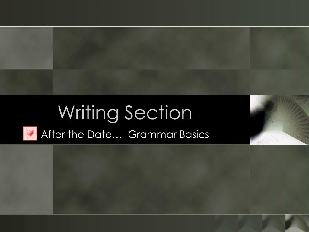 writing section l.