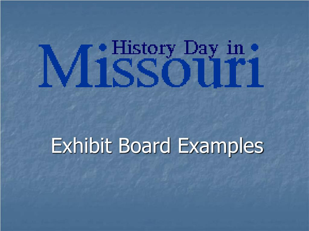 exhibit board examples l.