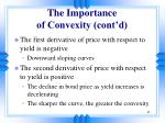 the importance of convexity cont d