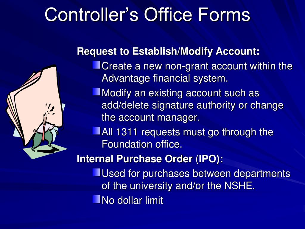 Controller's Office Forms