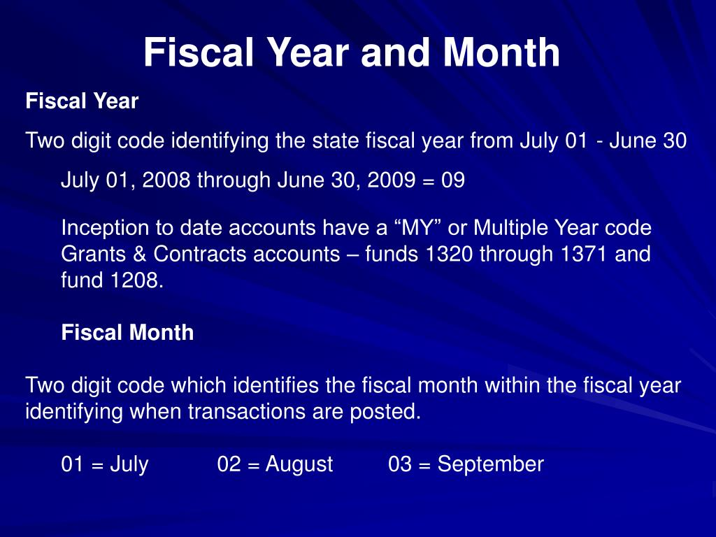 Fiscal Year and Month