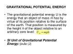 gravitational potential energy13
