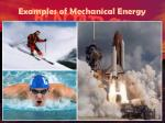 examples of mechanical energy