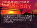 the law of conservation of energy1