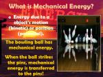 what is mechanical energy