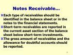 notes receivable36